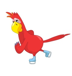 Funny Parrot skater vector image