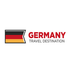 Germany travel destination poster with national vector