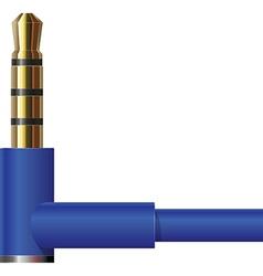 Headphone Jack in Blue vector image vector image
