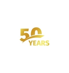 Isolated abstract golden 50th anniversary logo on vector image vector image