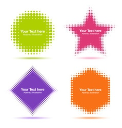 Set of modern flat halftone design elements vector