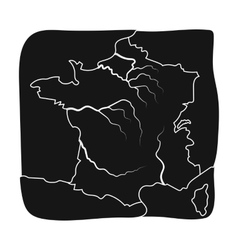 Territory of France icon in black style isolated vector image