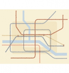 underground map vector image
