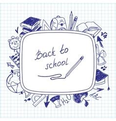 Welcome back to school school background of school vector image