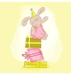Baby Bunny Birthday vector image