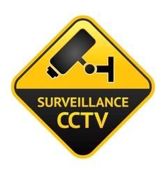 CCTV sign video surveillance label vector image vector image