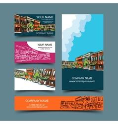 Cityscape card set vector image