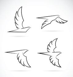 Group of an eagle design vector