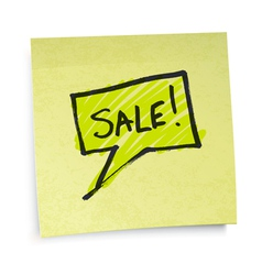 sticky note sale vector image vector image