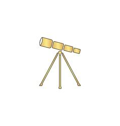 Telescope computer symbol vector image vector image