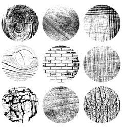 Set Circle Texture vector image