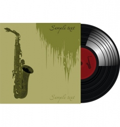 trumpet record sleeve vector image vector image