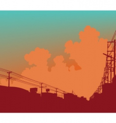 urban clouds vector image