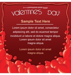 Valentines Day Red Card Background Template vector image vector image