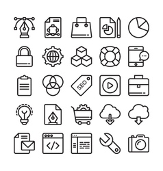 Web Design and Development Colored Icons 1 vector image vector image