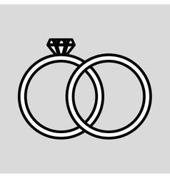 wedding rings design vector image