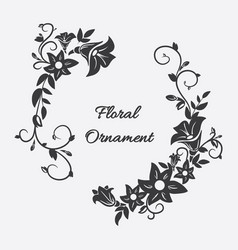 card with flower ornament vector image