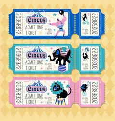 Circus animals attraction vector