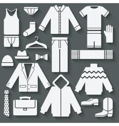 Menswear icons set vector image