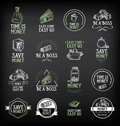 Money badge and logo design Quote text vector image