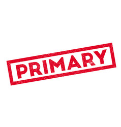 primary rubber stamp vector image
