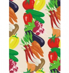 vegetable seamless background vector image vector image