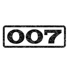 007 watermark stamp vector