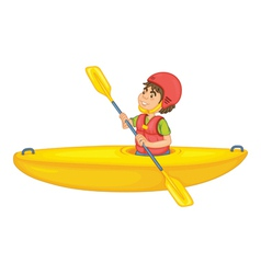 a man in boat vector image