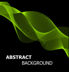 Abstract green line wave background vector