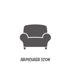 armchair icon simple flat style vector image