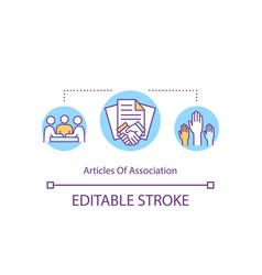 Articles association concept icon vector