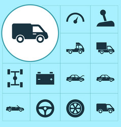 Auto icons set collection of drive control vector