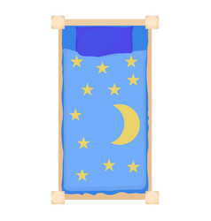 bed icon cartoon style vector image