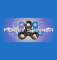 black fidget finger spinner horizontal web banner vector image