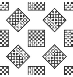 Board game of checkers icon seamless pattern vector