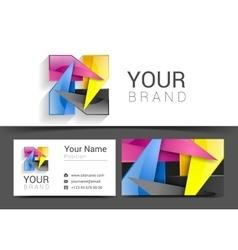 business card creative design template Corporate vector image