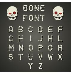 Cartoon Bone Alphabet A to Z Flat Design Font vector