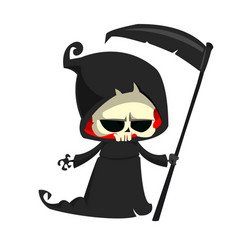 Cartoon of grim reaper vector