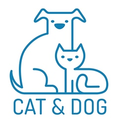 cat dog flat vector image