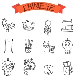 Chinese object icon vector image