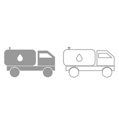 cistern truck it is black icon vector image
