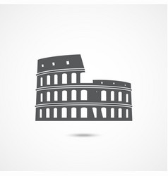 colosseum icon on white vector image