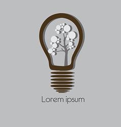 Concept tree in light bulb symbol of renewable vector