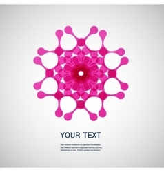 creative technology and molecule icon eps10 vector image
