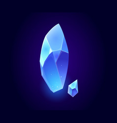 crystal gem blue magic gemstones isolated icons vector image