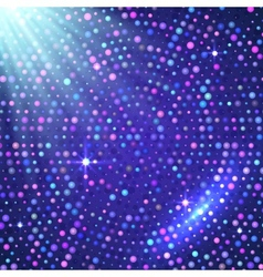 Disco light violet shining background vector image