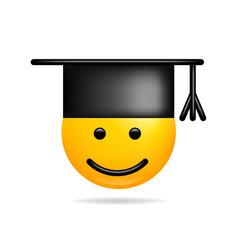 emoji smile icon symbol student smiley face vector image