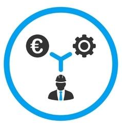 Euro Development Links Icon vector
