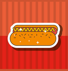 fast food hot dog delicious unhealthy vector image