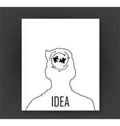 hand drawn human head and science icons vector image